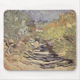 Tapis De Souris Vincent van Gogh | une route dans St Remy