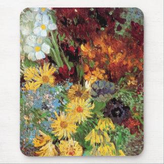 Tapis De Souris Vincent van Gogh - vase avec des marguerites et