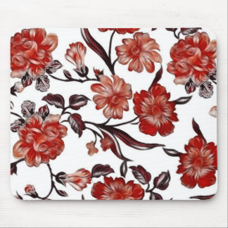 Tapis de souris vintage de conception florale -