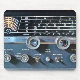 Tapis de souris vintage de radio d'ondes courtes