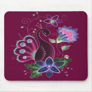 Tapis de souris violet de paon