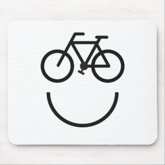 Tapis De Souris Visage de vélo, smiley de bicyclette
