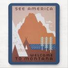 Tapis De Souris Voir l'accueil de l'Amérique au Montana, voyage