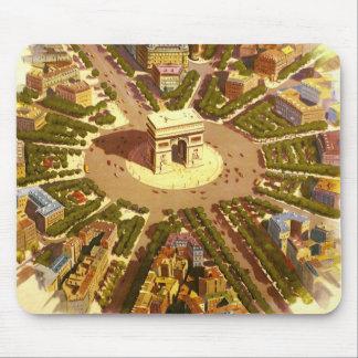 Tapis De Souris Voyage vintage, Arc de Triomphe Paris France