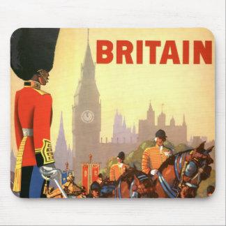 Tapis De Souris Voyage vintage, Grande-Bretagne Angleterre, garde