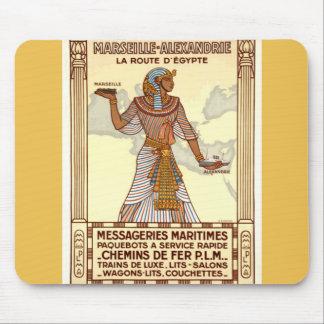 Tapis De Souris Voyage vintage Mousepad de l'Egypte