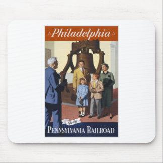 Tapis De Souris Voyage vintage Philadelphie