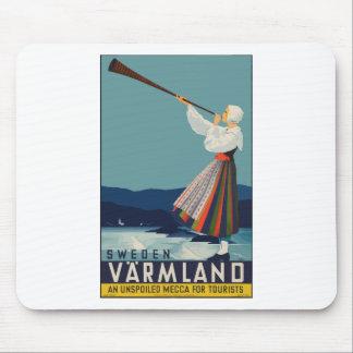Tapis De Souris Voyage vintage Suède