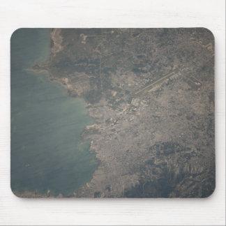 Tapis De Souris Vue aérienne de la région de Port-au-Prince du