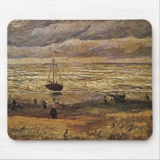 Tapis De Souris Vue de Van Gogh de mer à Scheveningen, beaux-arts