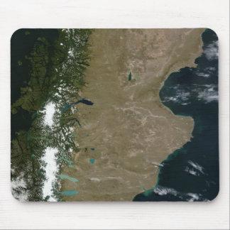 Tapis De Souris Vue satellite de la région de Patagonia