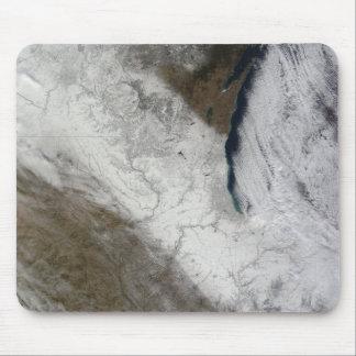 Tapis De Souris Vue satellite de neige et de froid