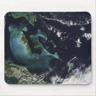 Tapis De Souris Vue satellite des îles de Bahama