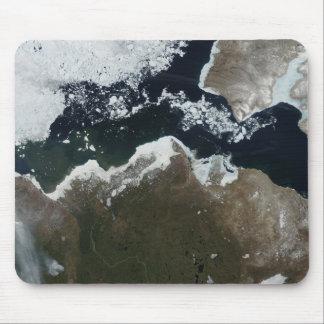 Tapis De Souris Vue satellite du Canada du nord-ouest