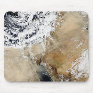 Tapis De Souris Vue satellite du méditerranéen oriental