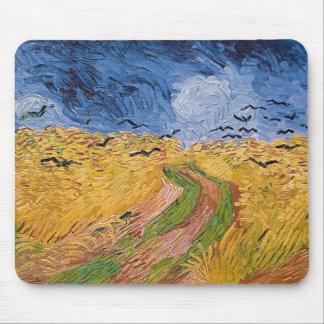 Tapis De Souris Wheatfield de Vincent van Gogh | avec des