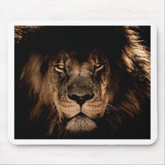 Tapis De Souris yeux africains de fin de crinière de lion