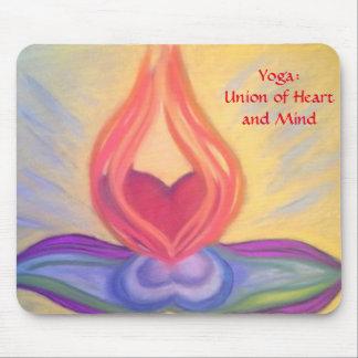 Tapis De Souris Yoga : Union de mousepad de coeur et d'esprit