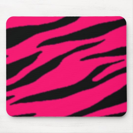 tapis de souris pink black zebra mousepad. Black Bedroom Furniture Sets. Home Design Ideas