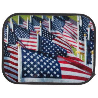 Tapis De Voiture 400 drapeaux ondulant fièrement dans un domaine