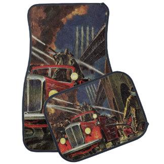 Tapis De Voiture Affaires vintages, sapeurs-pompiers de pompiers de