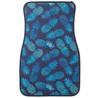 Tapis De Voiture Ananas bleus de colorant de cravate