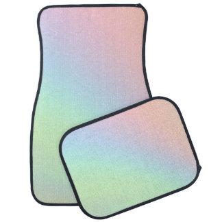 Tapis De Voiture Arc-en-ciel en pastel de couleur