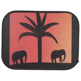 Tapis de voiture avec la conception d'éléphant