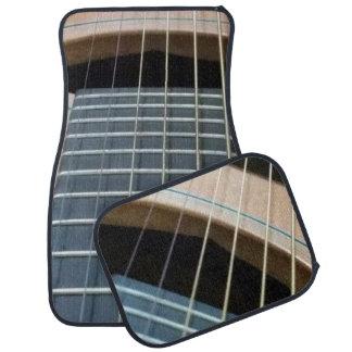 Tapis de voiture avec l'image de guitare (placez