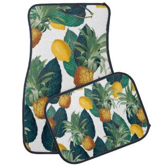 Tapis De Voiture blanc de pineaple et de citron