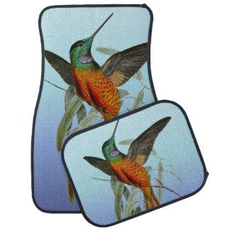 Tapis De Voiture Bleu de colibri