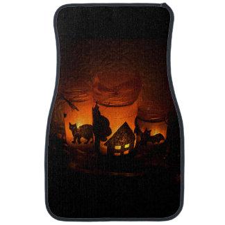Tapis De Voiture Chat noir de Halloween avec des lumières et des