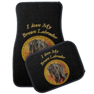 Tapis De Voiture Chiot brun doux adorable de canine de Labrador