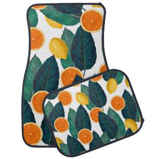 Tapis De Voiture Citrons et oranges blancs
