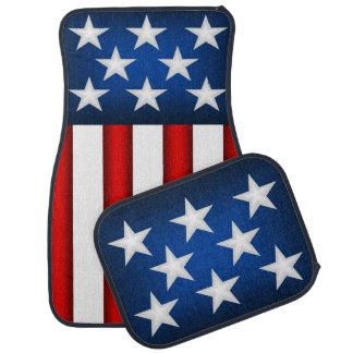 Tapis de voiture de drapeau américain