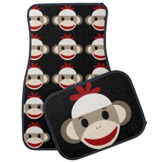 Tapis de voiture de singe de chaussette