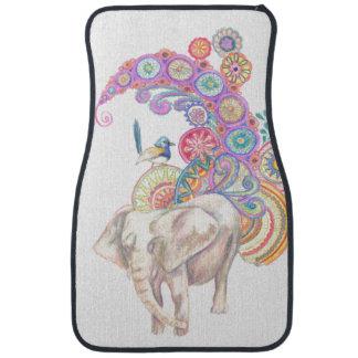 tapis de voiture d'éléphant et d'oiseau