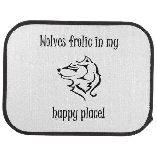 Tapis De Voiture Ébat de loups dans mon endroit heureux