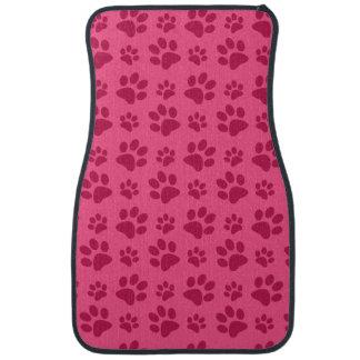 Tapis De Voiture Empreinte de patte rose de chien