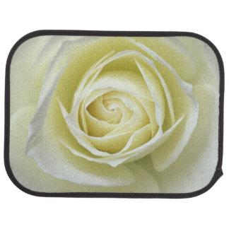 Tapis De Voiture Fermez-vous vers le haut des détails du rose blanc