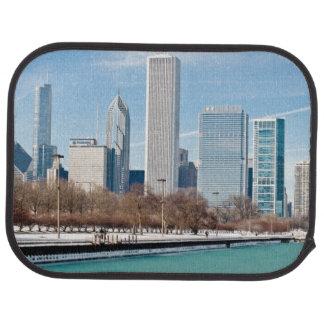 Tapis De Voiture Horizon de Chicago à travers le lac Michigan