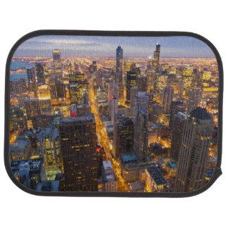 Tapis De Voiture Horizon du centre de Chicago au crépuscule