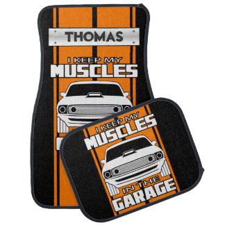 Tapis De Voiture Je maintiens mes muscles dans l'orange de voiture