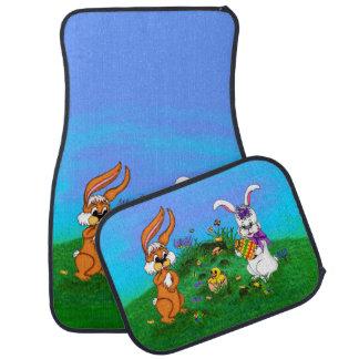 Tapis De Voiture Joyeuses Pâques ! Lapin avec le lapin et poussin