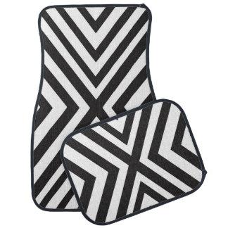 Tapis De Voiture La triangle blanche noire raye moderne chic
