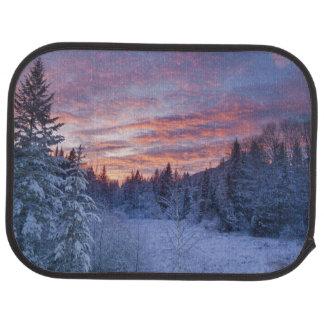 Tapis De Voiture Le coucher du soleil vif peint le ciel au-dessus