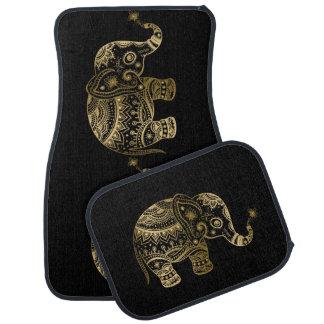 Tapis De Voiture L'or modifie la tonalité l'éléphant tribal mignon