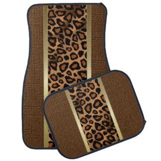 Tapis De Voiture Motif animal de léopard élégant de Brown