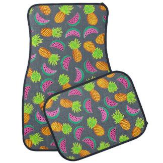 Tapis De Voiture motif coloré de pastèque d'ananas d'aquarelle