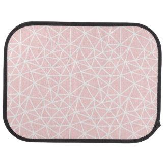 Tapis De Voiture Motif géométrique blanc rose Girly de rayures